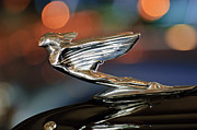 Presidential Photos Metal Prints - 1938 Cadillac V-16 Presidential Convertible Parade Limousine Hood Ornament Metal Print by Jill Reger