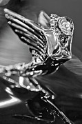 Old Hood Ornaments Posters - 1938 Cadillac V16 Hood Ornament Poster by Jill Reger