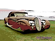 Smooth Ride Posters - 1938 Delahaye Cabriolet Poster by George Pedro