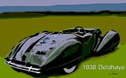 Smooth Ride Posters - 1938 Delahaye Poster by George Pedro