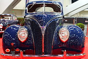 Hood Ornaments Art - 1938 Ford Deluxe Coupe . Blue . 7D9195 by Wingsdomain Art and Photography