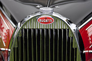 Bugatti Vintage Car Photos - 1939 Bugatti Type 57 Galibier Sports Saloon Hood Emblem by Jill Reger