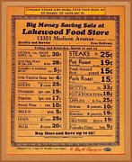Collectible Mixed Media Posters - 1939 Food Store Ad- Free Offer Poster by Ray Tapajna