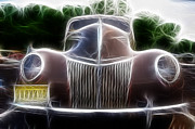Fractalius Art Posters - 1939 Ford Deluxe Poster by Paul Ward