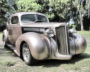 Classic Hot Rods Prints - 1939 Packard coupe Print by Richard Rizzo