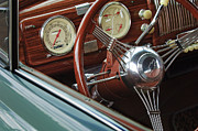 1940 Prints - 1940 Chevrolet Steering Wheel Print by Jill Reger