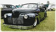 1949 Merc Framed Prints - 1940 Chevy Convertable Framed Print by Steve McKinzie