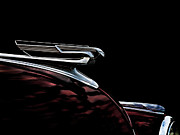 Vintage Hood Ornament Digital Art Metal Prints - 1940 Chevy Hood Ornament Metal Print by Douglas Pittman