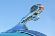 Car Mascot Metal Prints - 1940 Dodge Business Coupe Hood Ornament Metal Print by Jill Reger