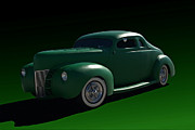 1940 Ford Posters - 1940 Ford Chopped Coupe Poster by Tim McCullough