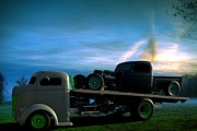 1940 Ford Posters - 1940 Ford COE Roll Back Truck Poster by Tim McCullough
