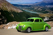 1940 Ford Posters - 1940 Ford Lime Green Coupe Poster by Tim McCullough