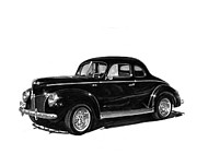 Transportation Drawings Acrylic Prints - 1940 Ford Restro Rod Acrylic Print by Jack Pumphrey