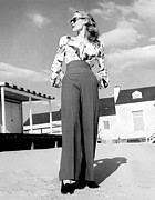 Full-length Portrait Metal Prints - 1940s Fashion A Peasant Top Metal Print by Everett