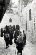 Jerusalem Digital Art Metal Prints - 1941 Armenian Clergy in Jerusalem Metal Print by Munir Alawi