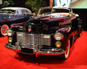Domestic Cars Prints - 1941 Cadillac Series 62 Convertible Coupe . Front Angle Print by Wingsdomain Art and Photography