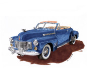 Cadillac Painting Posters - 1941 Cadillac Series 62 Convertible Poster by Jack Pumphrey