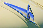 Car Detail Prints - 1941 Hudson Hood Ornament Print by Jill Reger