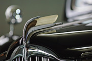 Limousine Prints - 1941 Packard Custom Super-8 One-Eighty Touring Limousine Hood Ornament Print by Jill Reger
