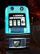 Black Top Posters - 1945 Mills High Top 5 Cent Nickel Slot Machine Poster by Karon Melillo DeVega