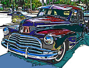 Sam Sheats Framed Prints - 1946 Chevrolet Framed Print by Samuel Sheats
