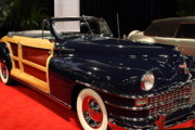 1946 Chrysler Town And Country Convertible Photos - 1946 Chrysler Town and Country Convertible . Front Angle by Wingsdomain Art and Photography