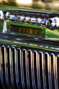 Car Detail Prints - 1947 Cadillac Model 62 Coupe Radio Print by Jill Reger