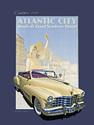 Autoart Prints - 1947 Cadillac Model 62 Series Convertible Print by Roger Beltz