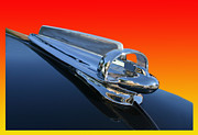 Car Mascot Metal Prints - 1947 Chevrolert Hood Ornament Metal Print by Jack Pumphrey