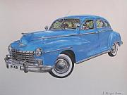 Classic Car Pastels - 1947 Dodge by Joanne Simpson