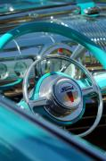 Car Detail Prints - 1947 Ford Deluxe Convertible Steering Wheel Print by Jill Reger