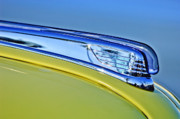 Historic Vehicle Photo Prints - 1947 Ford Super Deluxe Hood Ornament 2 Print by Jill Reger