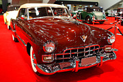 Red Cars Photo Framed Prints - 1947 Red Cadillac Convertible . 7D9220 Framed Print by Wingsdomain Art and Photography