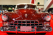 Red Cars Photo Framed Prints - 1947 Red Cadillac Convertible . 7D9224 Framed Print by Wingsdomain Art and Photography