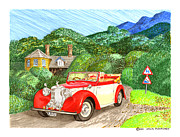 1948 Alvis English Countryside Print by Jack Pumphrey