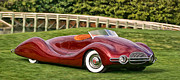Buick Paintings - 1948 Buick Streamliner by Dominic Piperata