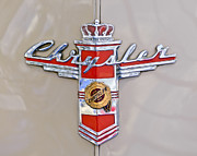 Country Photographs Prints - 1948 Chrysler Town and Country Sedan Emblem Print by Jill Reger