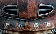 Rusted Cars Prints - 1948 Ford Print by Fran Riley
