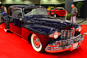American Car Art - 1948 Lincoln Continental Coupe . Deep Blue . 7D9252 by Wingsdomain Art and Photography