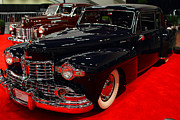 Transportation Glass Acrylic Prints - 1948 Lincoln Continental Coupe . Deep Blue . 7D9256 Acrylic Print by Wingsdomain Art and Photography