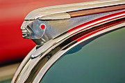 1948 Pontiac Streamliner Photos - 1948 Pontiac Chief Hood Ornament by Jill Reger