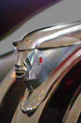 Woody Wagon Photos - 1948 Pontiac Streamliner Woody Wagon Hood Ornament 2 by Jill Reger
