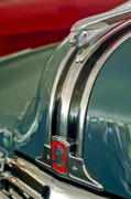 Historic Vehicle Photo Prints - 1948 Pontiac Streamliner Woody Wagon Hood Ornament Print by Jill Reger