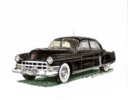 Cadillac Painting Posters - 1949 Cadillac Fleetwood Sedan Poster by Jack Pumphrey