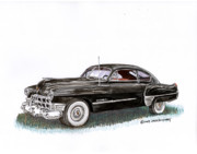 Cadillac Painting Posters - 1949 Cadillac Sedanette Poster by Jack Pumphrey