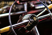 Caddy Prints - 1949 Cadillac Steering Wheel Print by Gordon Dean II