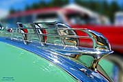 1949 Plymouth Photo Framed Prints - 1949 Plymouth Hood Ornament Framed Print by Larry Keahey