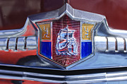 Deluxe Photos - 1949 Plymouth P-18 Special Deluxe Convertible Emblem by Jill Reger