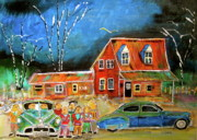 Litvack Naive Art - 1949  Reunion by Michael Litvack