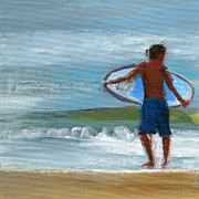Surfer Art Metal Prints - RCNpaintings.com Metal Print by Chris N Rohrbach